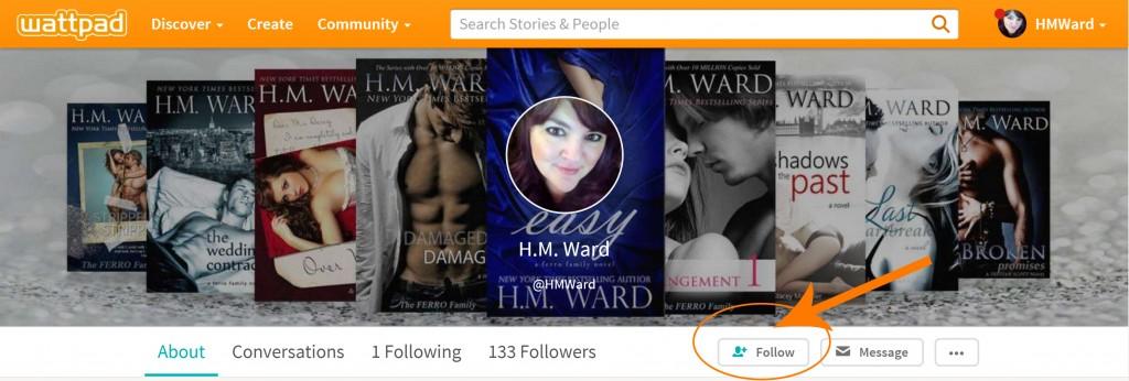 HM Ward NYT Bestselling author Wattpad
